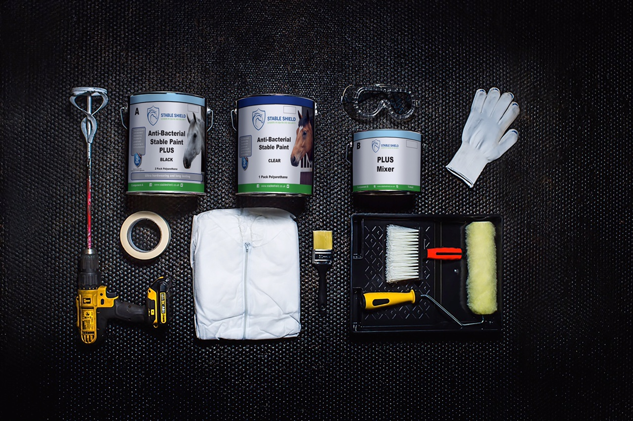 Stable Shield Antibacterial Paint Application Kit